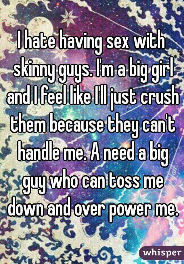 skinny girls who like big guys