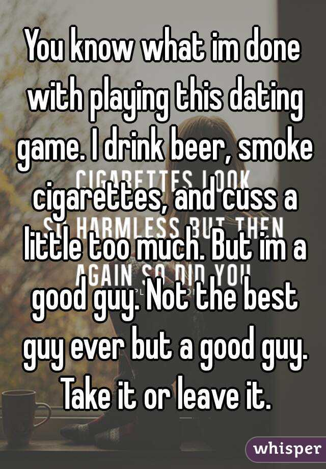Dating a guy who drinks and smokes — photo 7