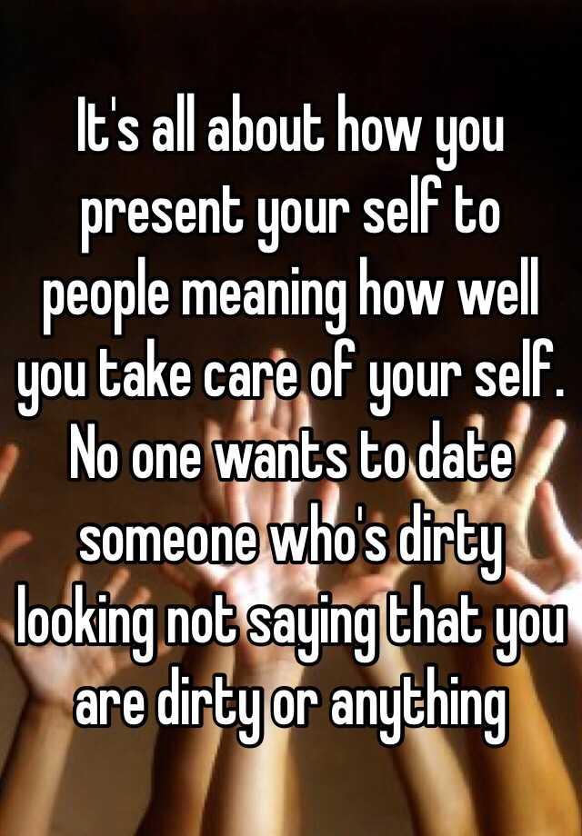Take care meaning dating