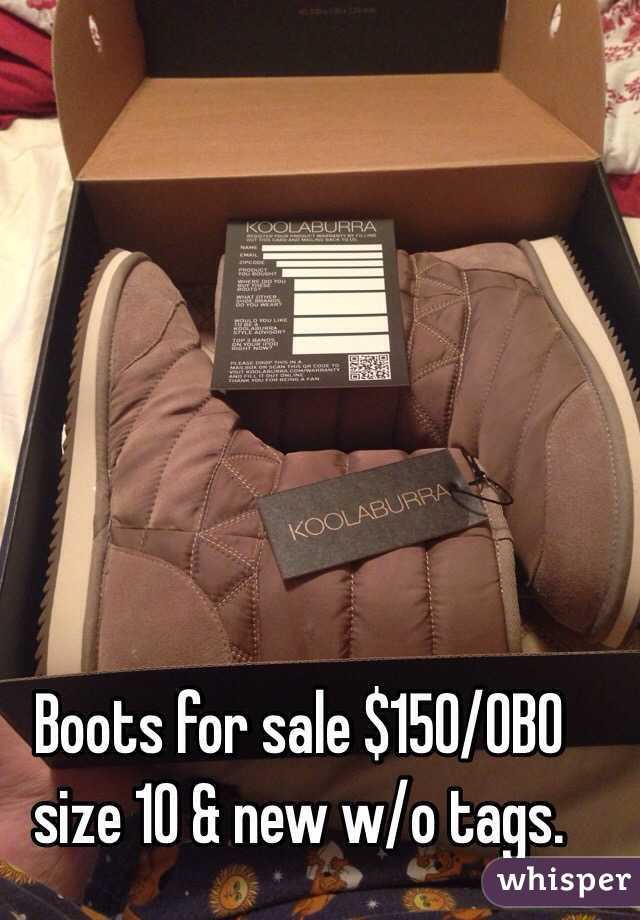 Boots for sale $150/OBO size 10 & new w/o tags.