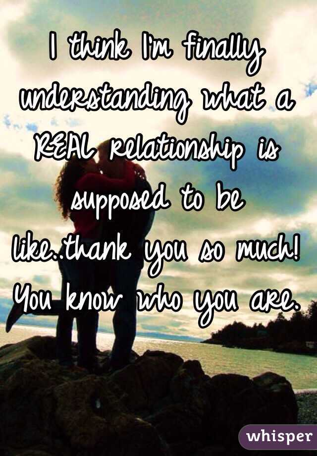 Supposed Be Like Is Relationship What A To
