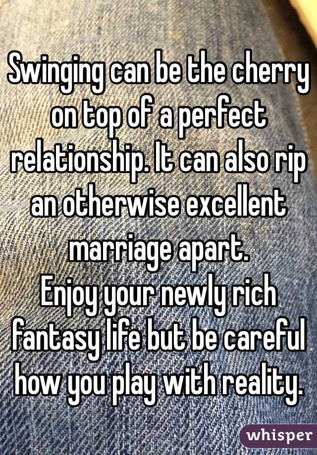 can swinging help your marriage