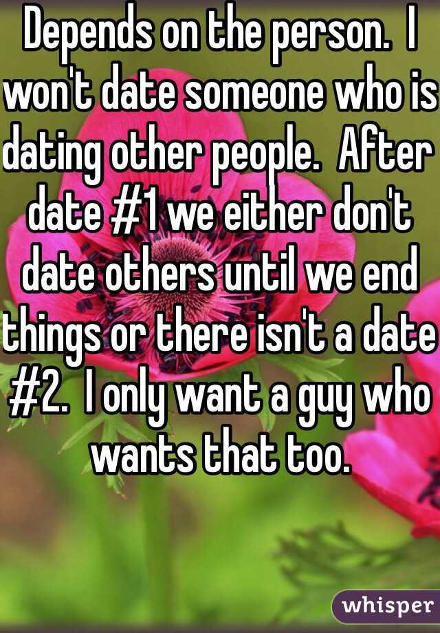 He wants to date other people