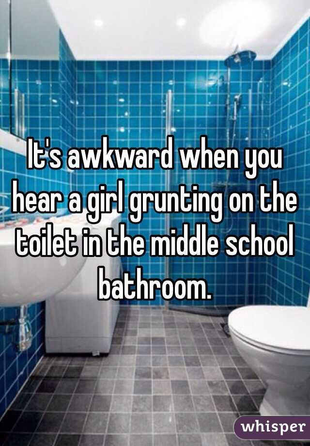 middle school bathroom. It\u0027s Awkward When You Hear A Girl Grunting On The Toilet In Middle School Bathroom. Bathroom