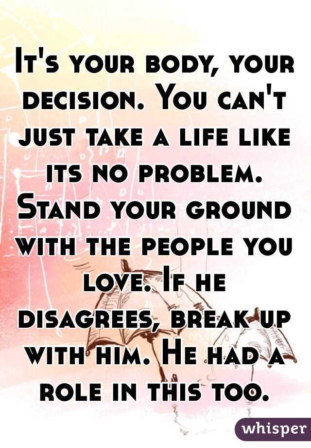 How To Stand Your Ground In A Breakup