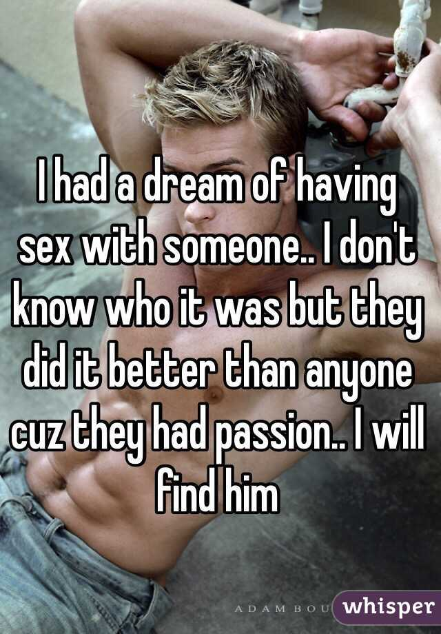 Dream about having sex with someone