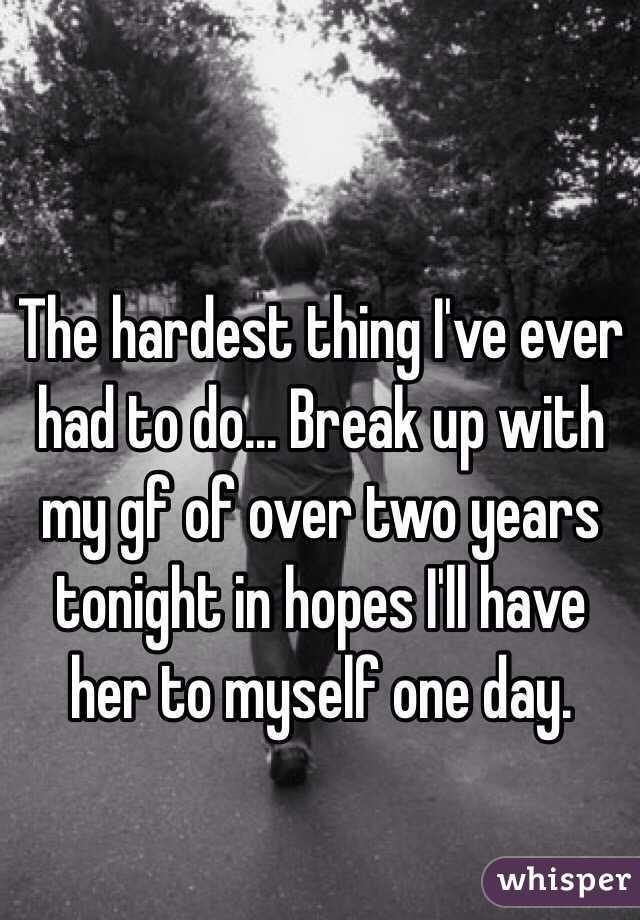 My hardest breakup was tree