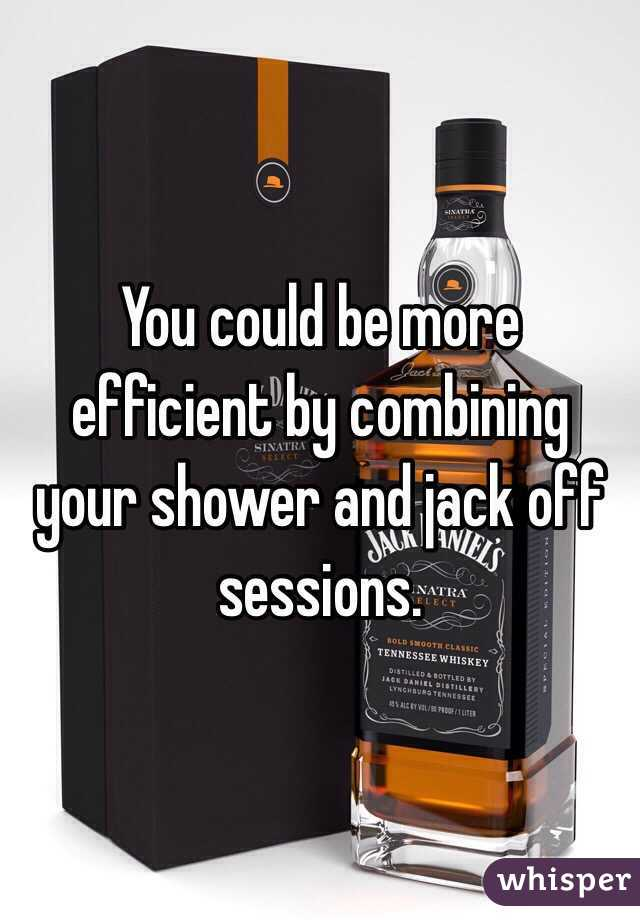 best way to jack off in the shower