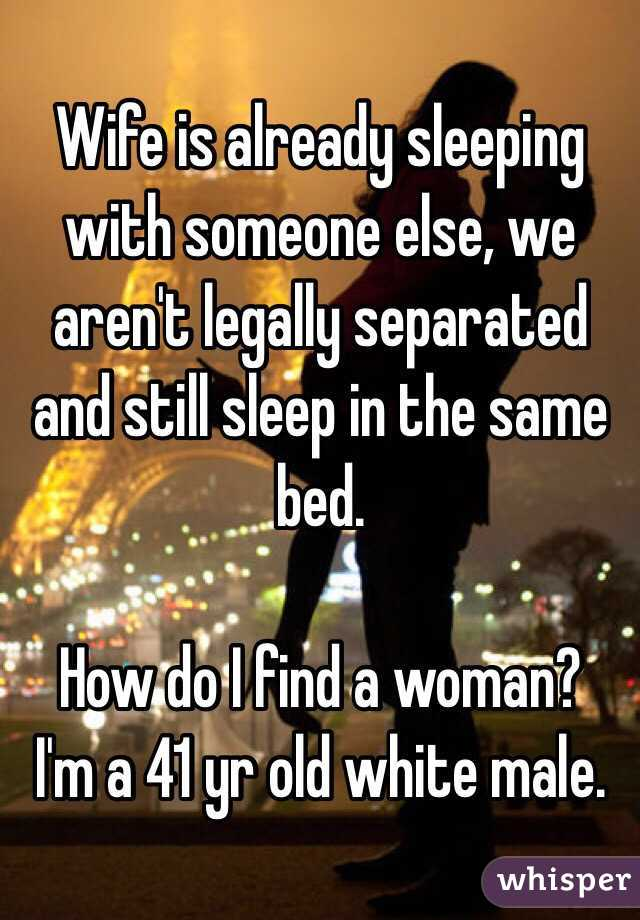 Legally separated woman