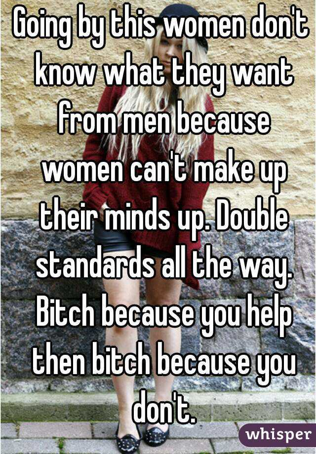 Do women know what they want