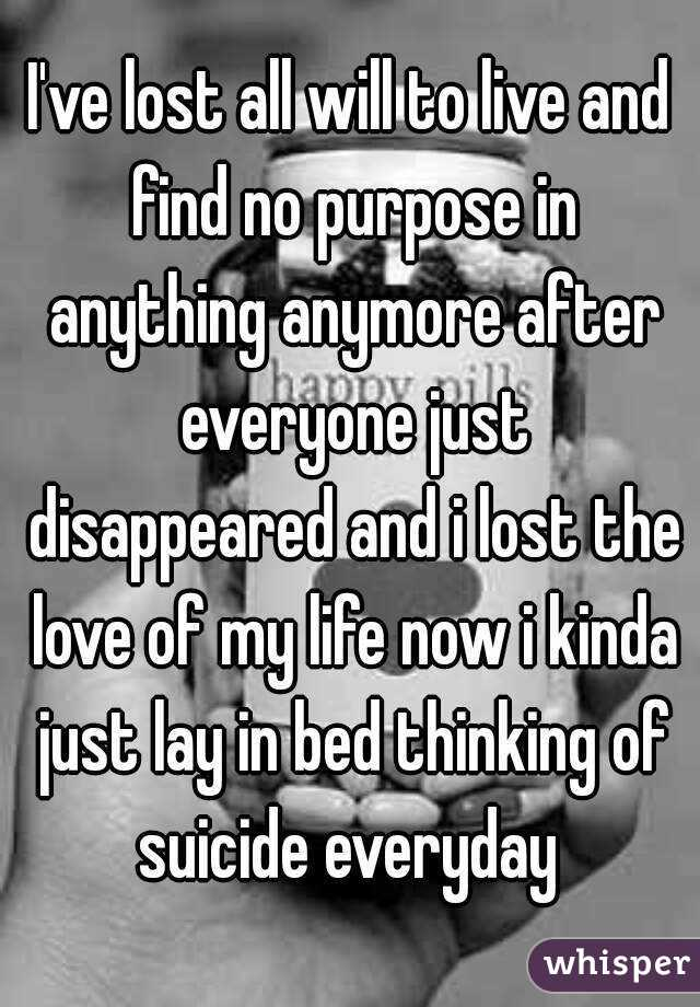 thoughts of suicide everyday