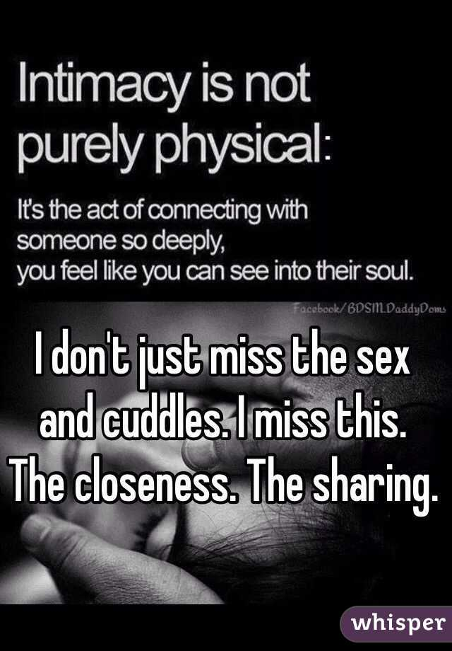 Closeness of sex