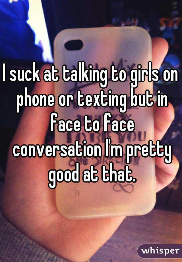 I suck at talking to girls