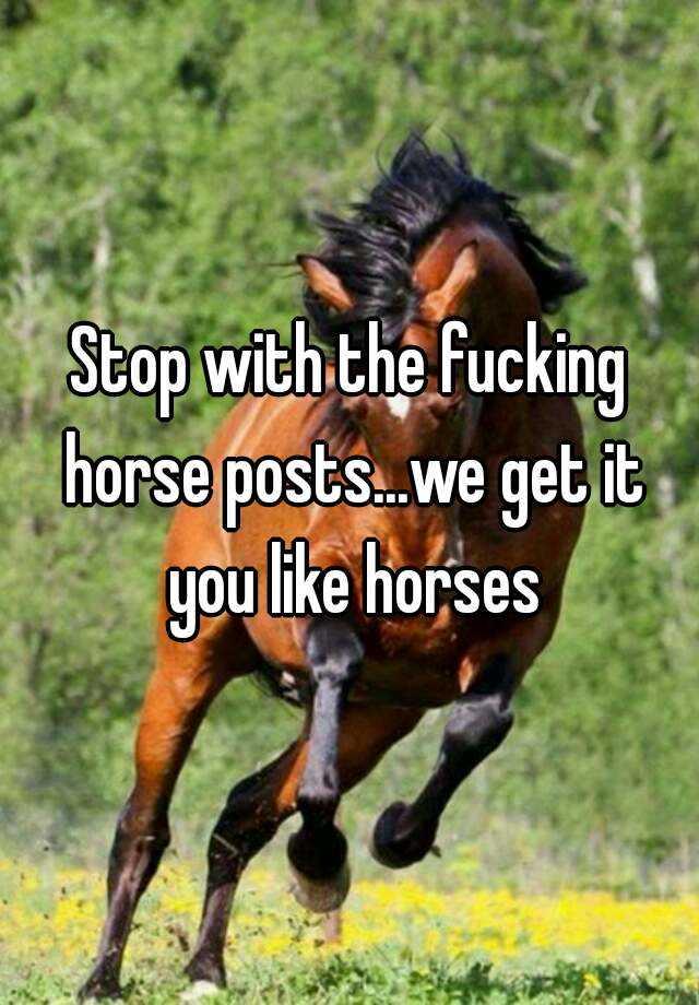 fucking horses