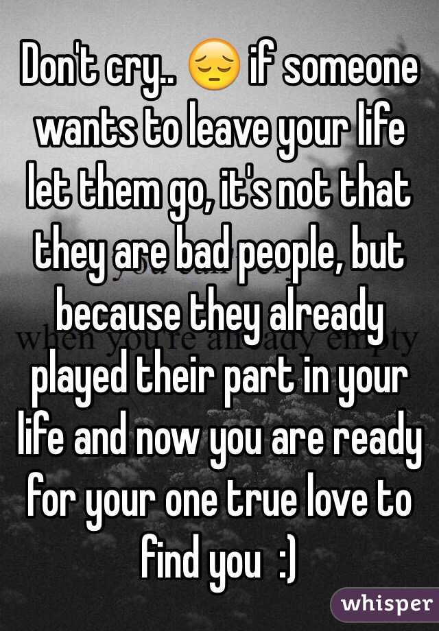 How to leave someone you love and live with