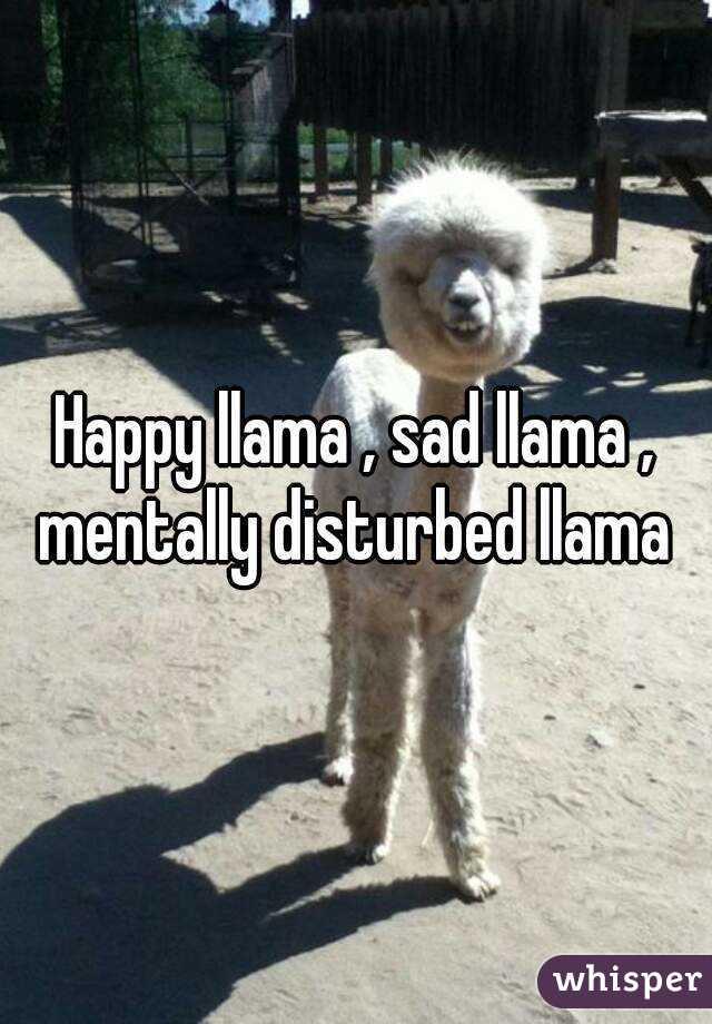 Happy Llama Sad Mentally Disturbed