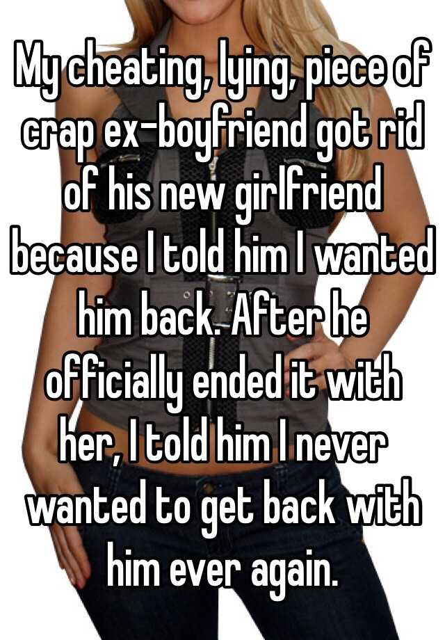 how to get back at a cheating ex boyfriend