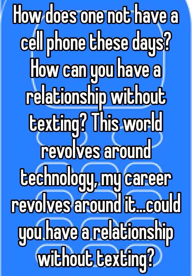 relationships over the phone