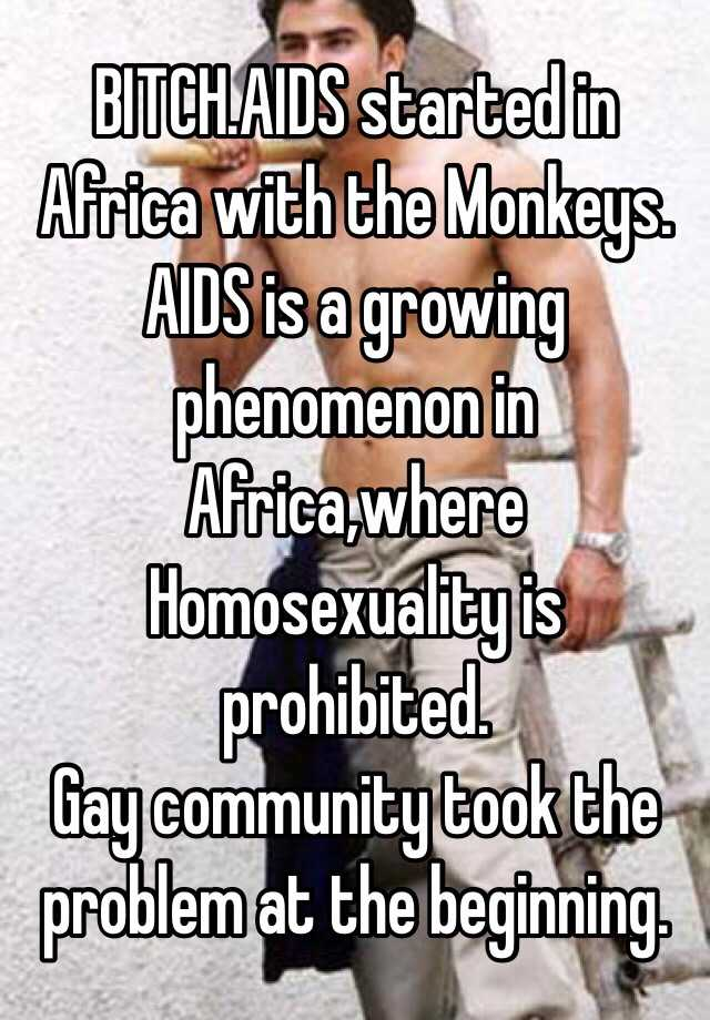 Aids and homosexuality in africa