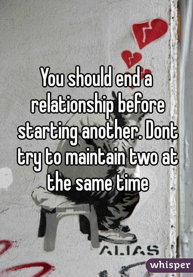 When should i end a relationship