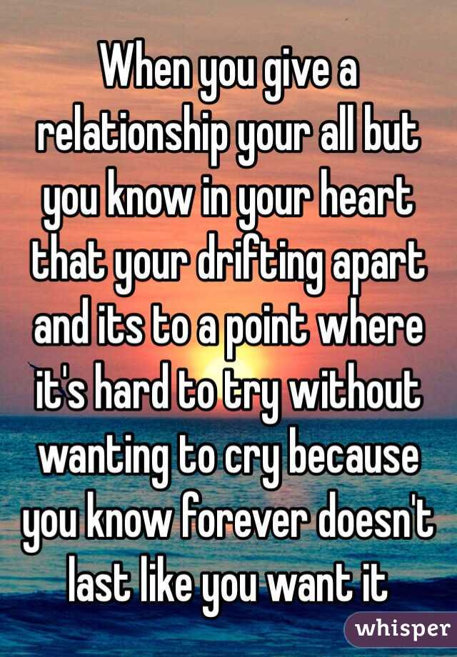 Drifting Apart In A Relationship