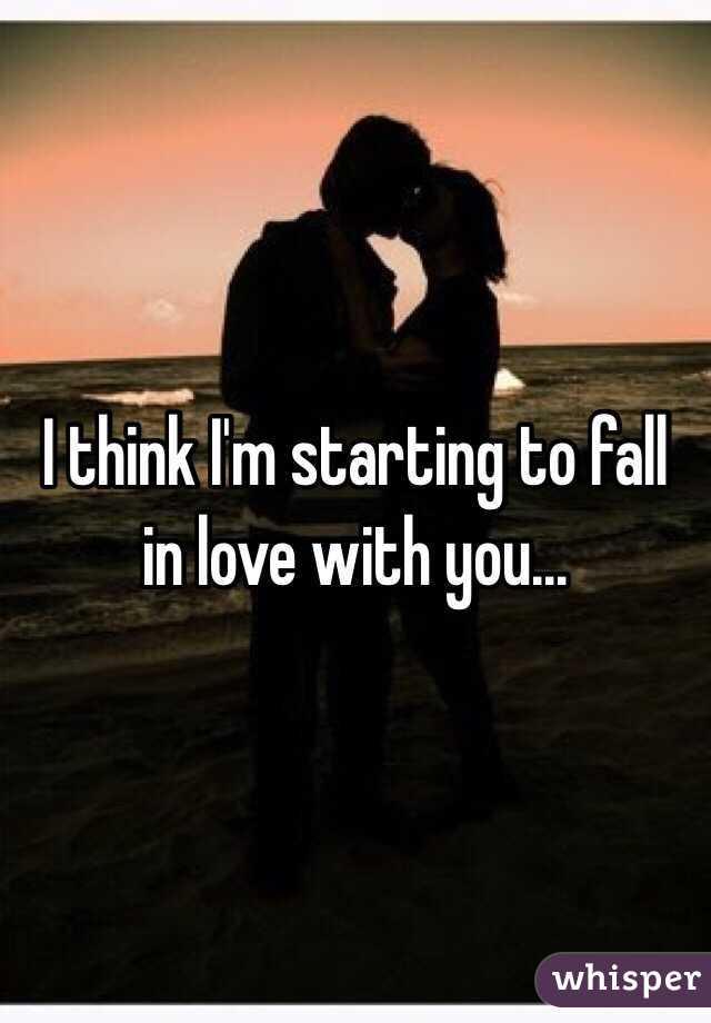 I think i fall in love