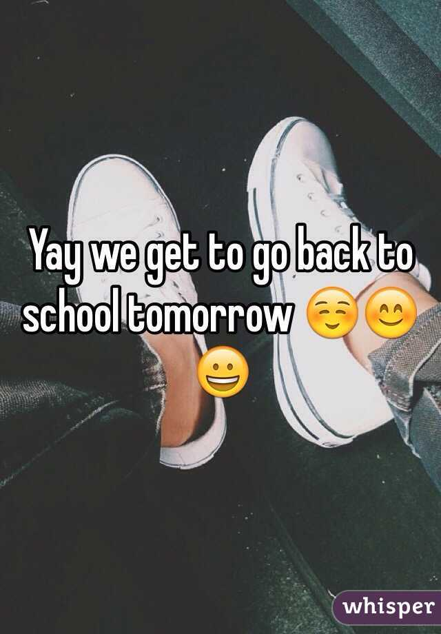 Image result for school tomorrow yay