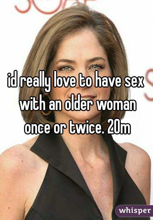 Do older women like to have sex