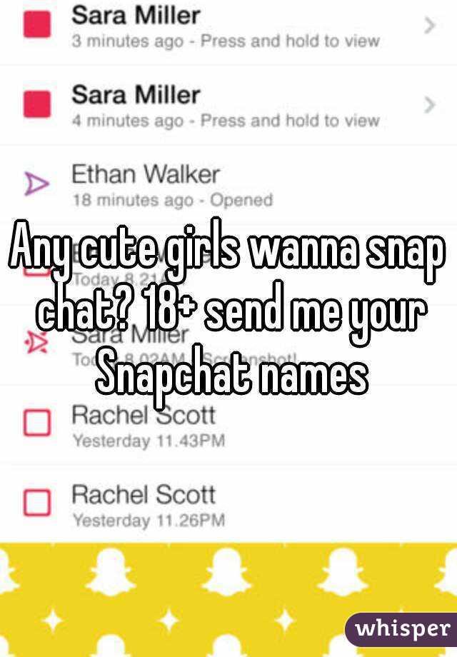 Cute girl snapchat names