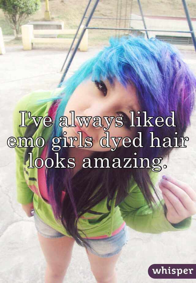 Ive Always Liked Emo Girls Dyed Hair Looks Amazing