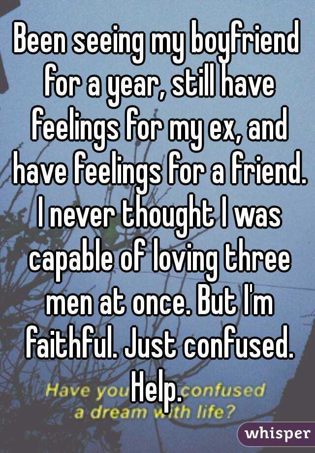 I still have feelings for my ex