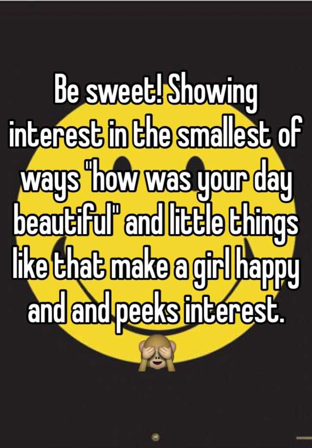Showing interest in a girl