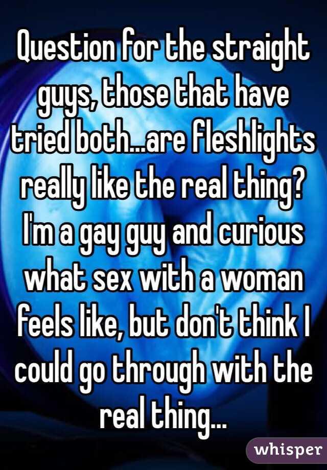 Curious how gay sex feels