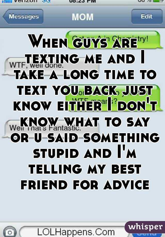 texting advice for guys
