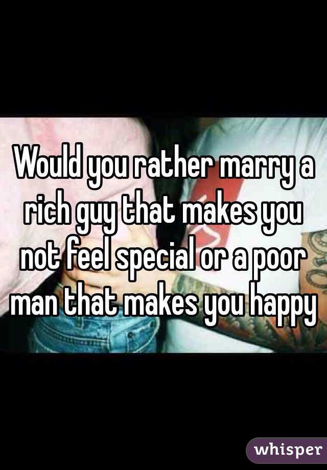 Marry a rich man