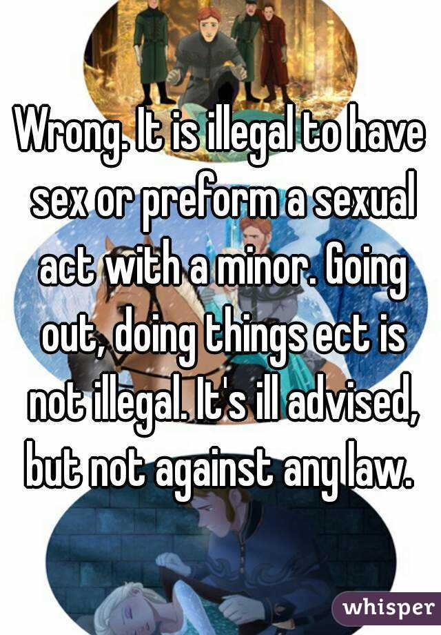Law on sex with a minor