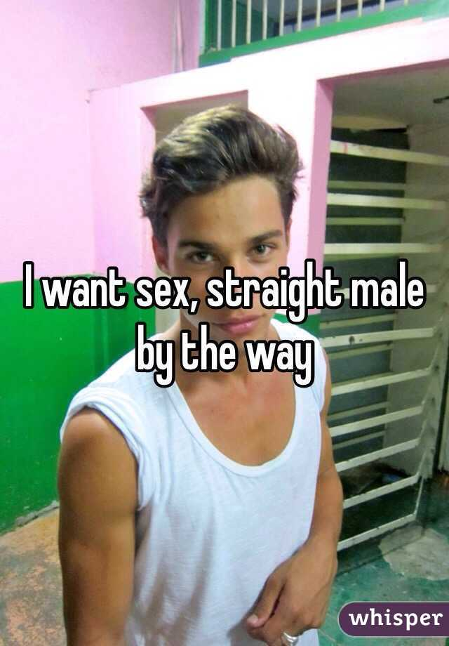 I want sex, straight male by the way