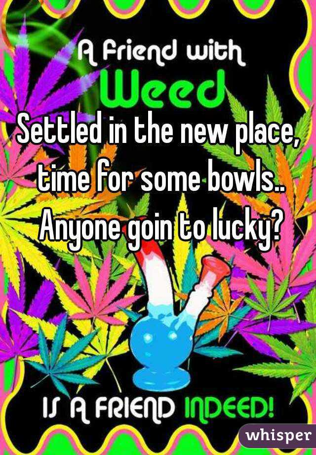Settled in the new place, time for some bowls.. Anyone goin to lucky?