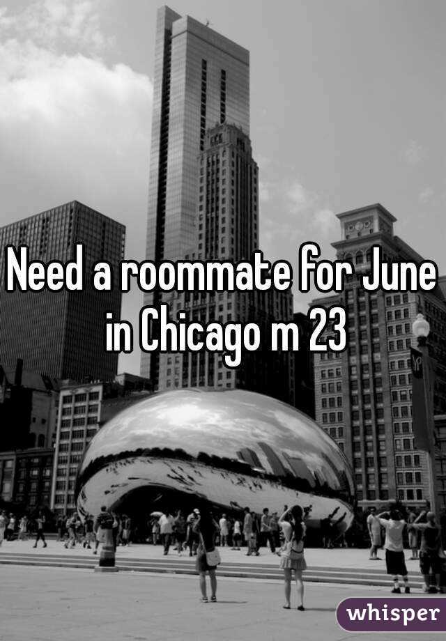 Need a roommate for June in Chicago m 23