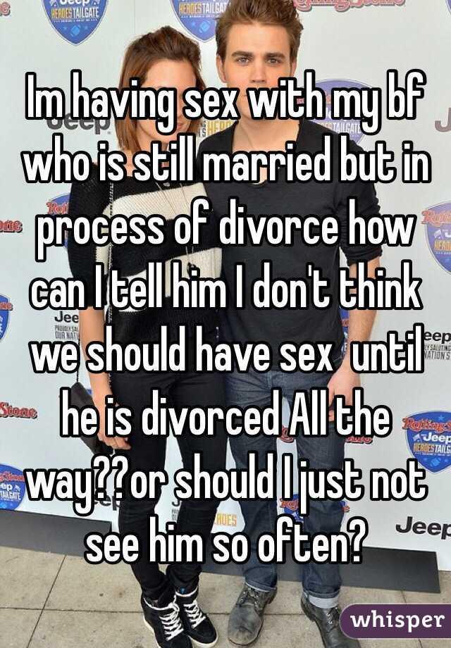 I think we should have sex