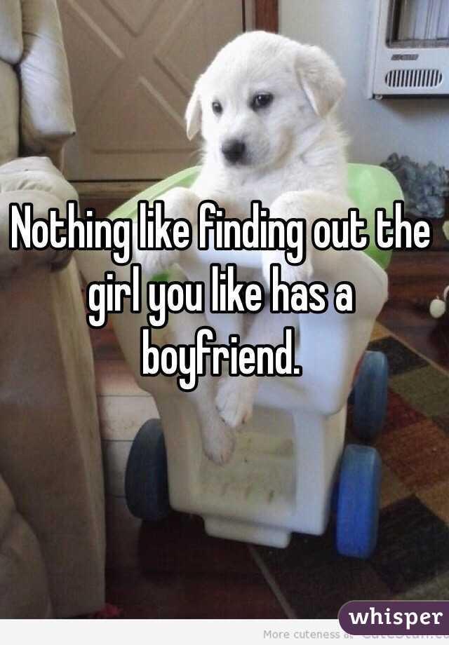 girl you like has a boyfriend