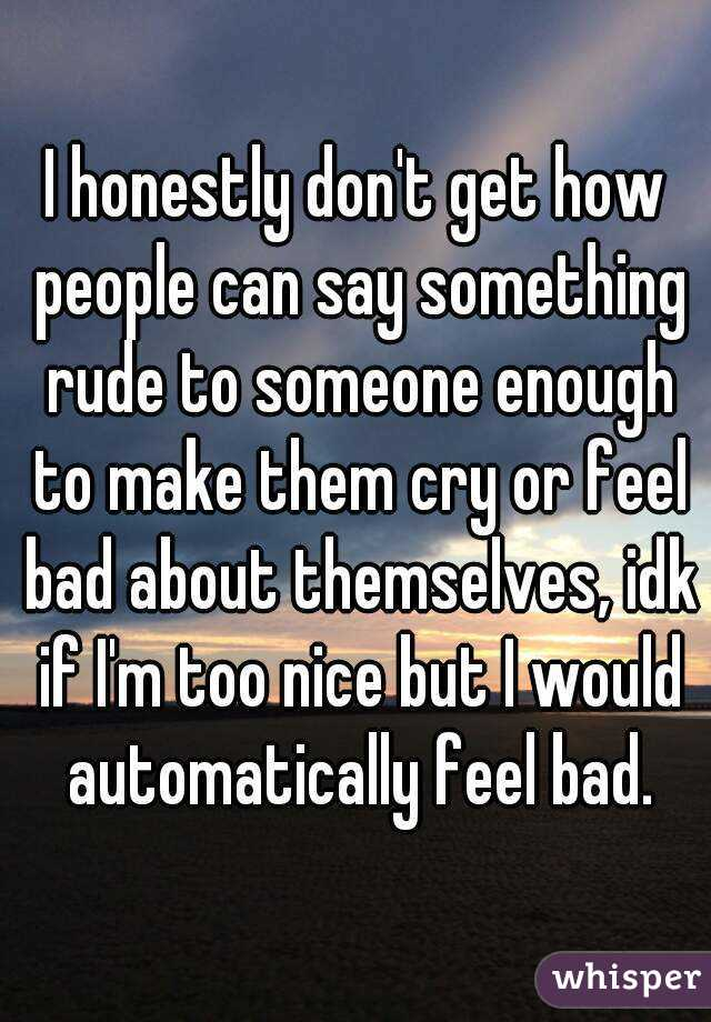 bad things to say to someone