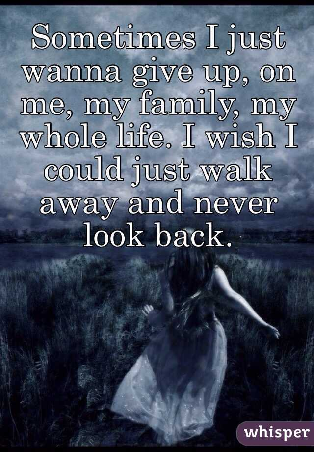 I Want To Walk Away From My Family Familyscopes