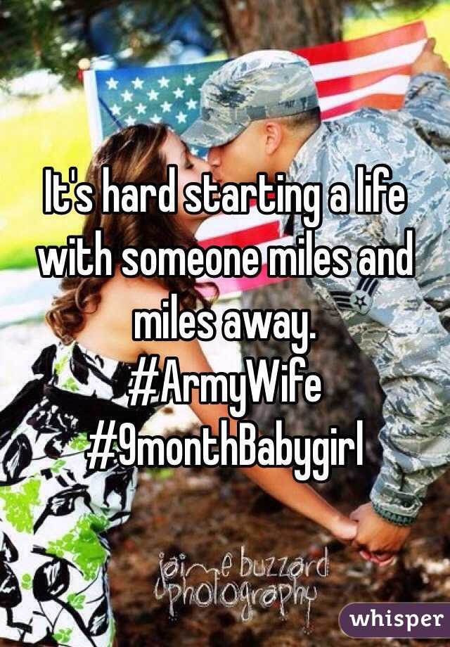 It's hard starting a life with someone miles and miles away.  #ArmyWife #9monthBabygirl