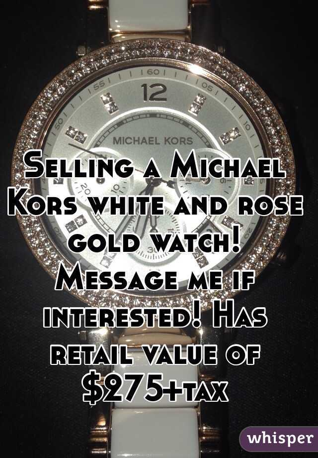 Selling a Michael Kors white and rose gold watch! Message me if interested! Has retail value of $275+tax