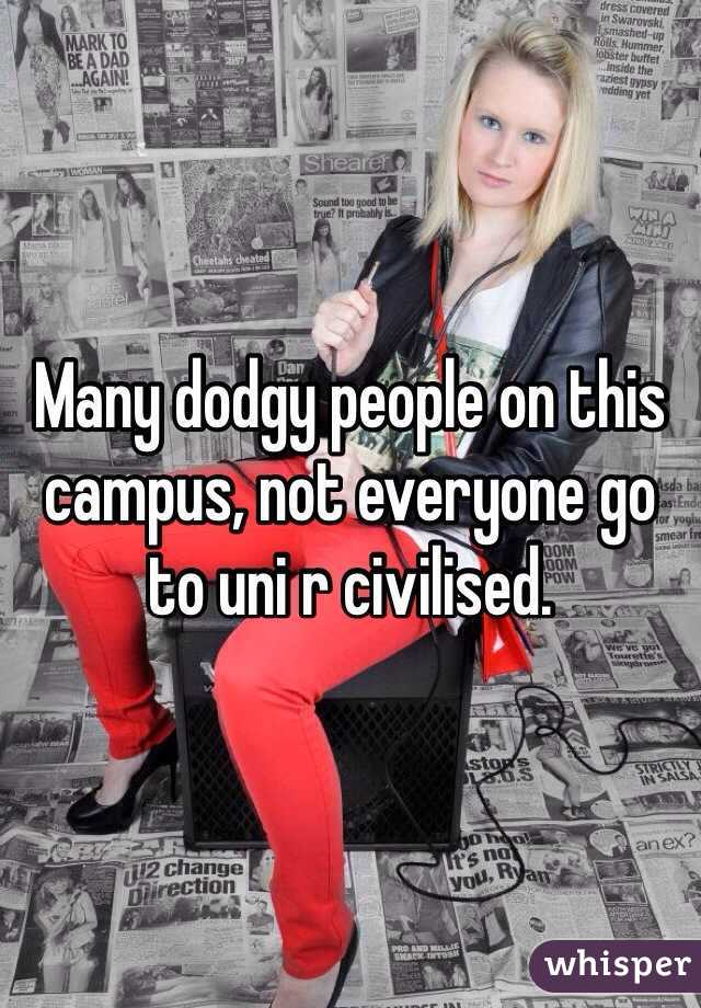 Many dodgy people on this campus, not everyone go to uni r civilised.