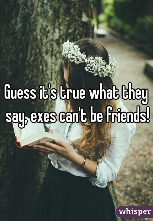 Guess it's true what they say, exes can't be friends!
