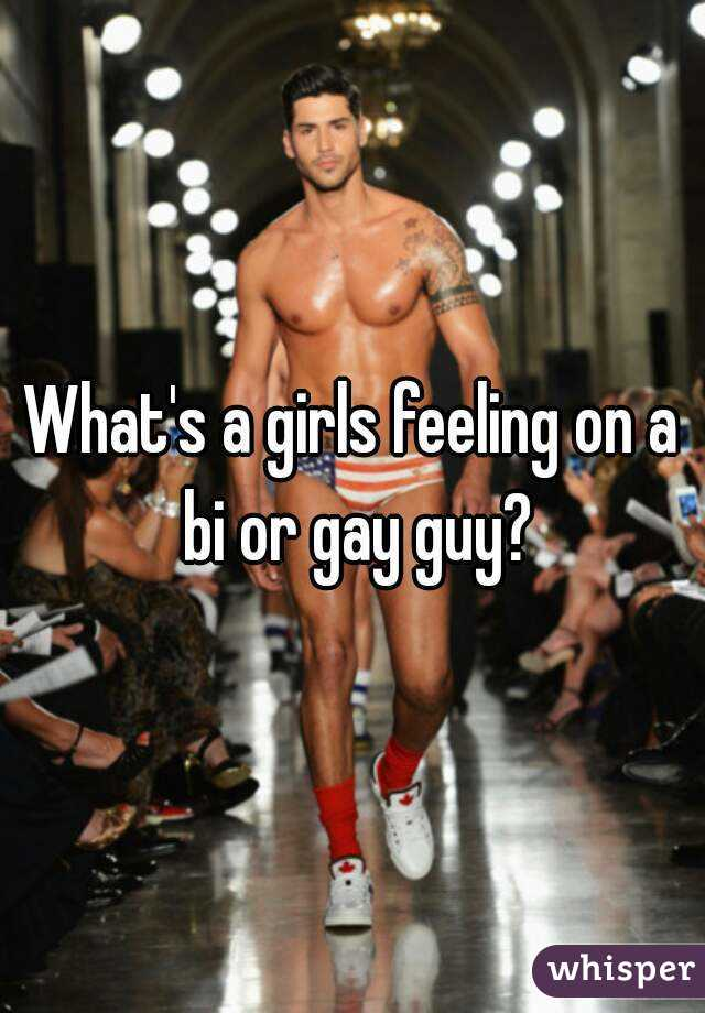 What's a girls feeling on a bi or gay guy?