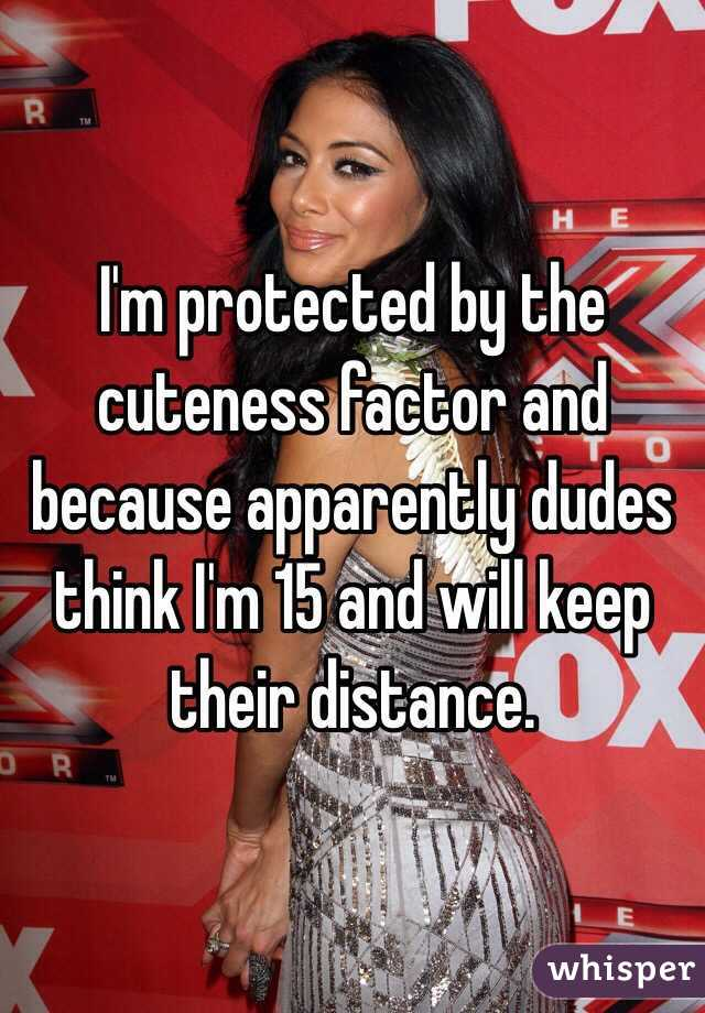 I'm protected by the cuteness factor and because apparently dudes think I'm 15 and will keep their distance.