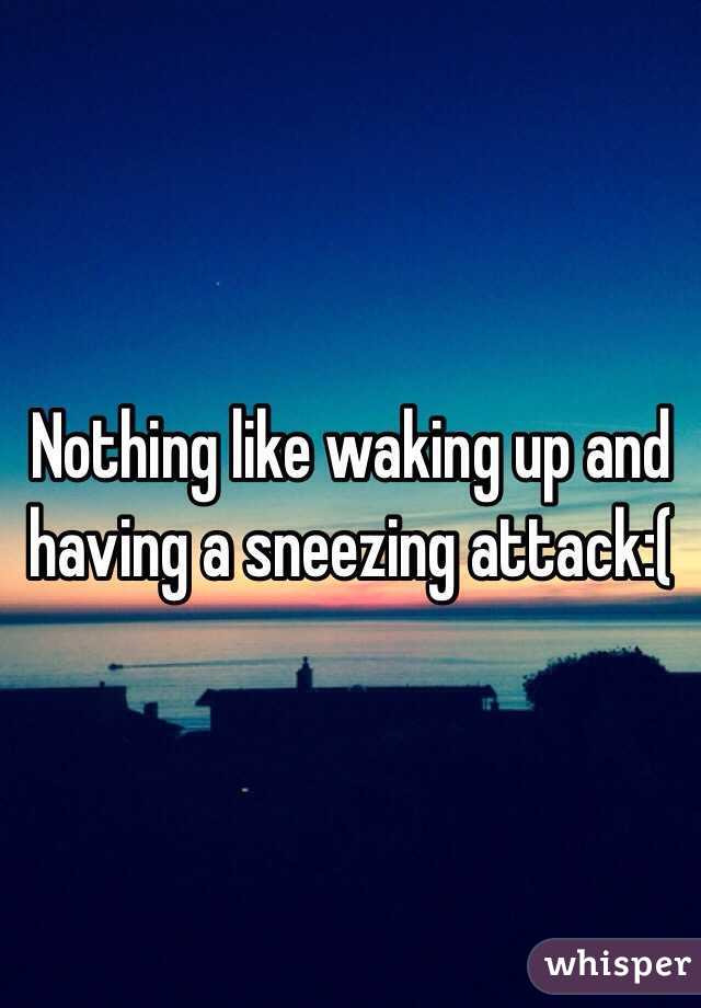 Nothing like waking up and having a sneezing attack:(